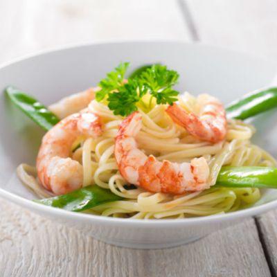 Garlic-Lemon Shrimp with Pasta