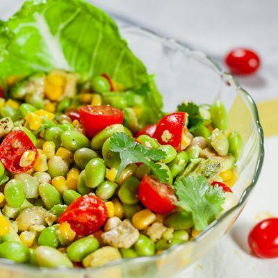 Edamame, Corn & Tomato Salad