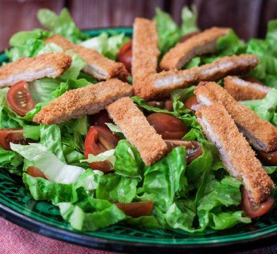 Nut Breaded Chicken Salad