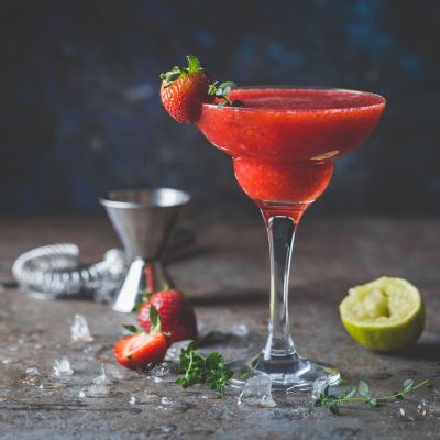 Dusk to Dawn Strawberry Cocktail