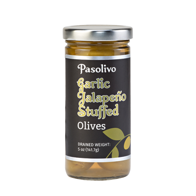 Jalapeno Garlic Stuffed Olives