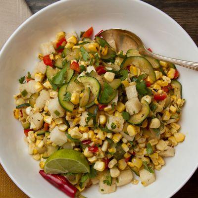 Lime Roasted Corn Salad Recipe