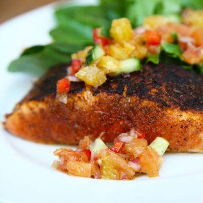 Blackened Salmon with Citrus Salsa Recipe | Pasolivo