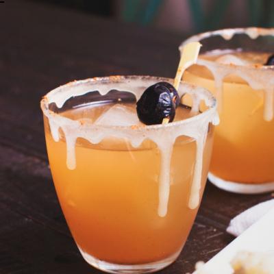Sparkling Citrus Apple Bourbon Smash