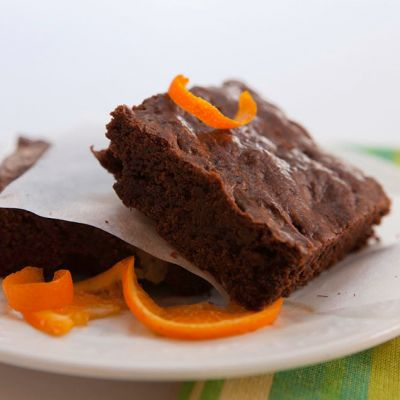 Tangerine Olive Oil Brownies