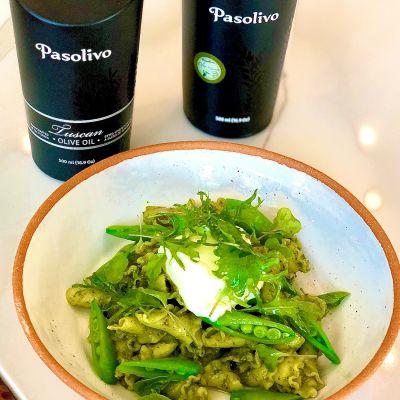 Etto Trombe Pasta with Kale Pesto