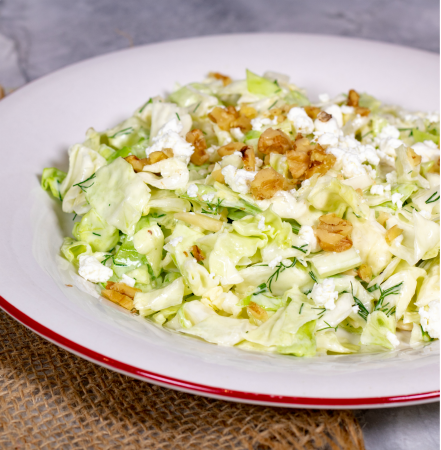 Crunch Cabbage Salad with Creamy Lemon Vinaigrette
