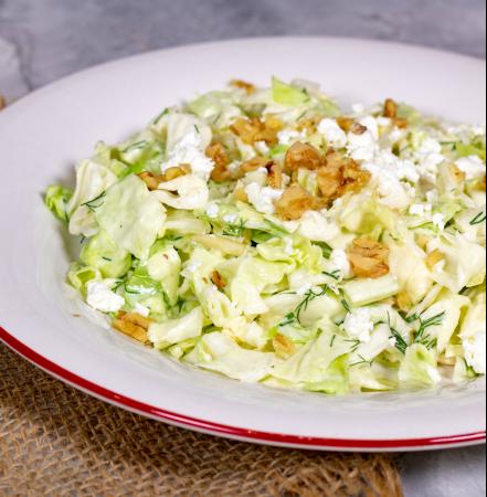 Crunch Cabbage Salad with Creamy Lemon Vinaigrette