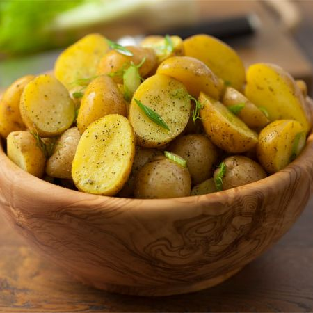 Potato Salad with Spring Blend, Green Onions, and Fennel