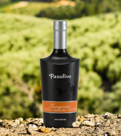 Tangerine Olive Oil glass bottle